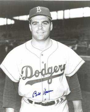 Billy harris autographed 8x10 photo brooklyn dodgers