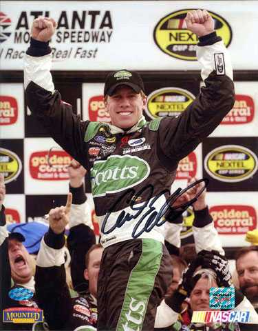 Autographs Auto Racing on Carl Edwards Autographed 8x10 Photo  Auto Racing