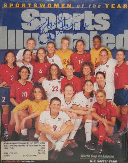 Brandi Chastain autographed Sports Illustrated Magazine (Soccer) Brandi Chastain Sports Illustrated