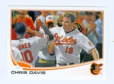 Chris Davis Baseball Card Baltimore Orioles 2013 Topps 119