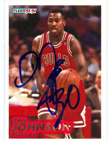 Dave Johnson autographed Basketball Card (Chicago Bulls ...