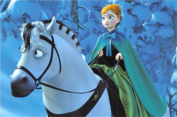 frozen anna and the horse