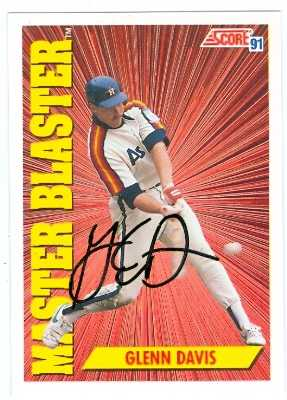 Glenn Davis Autographed Baseball Card Houston Astros