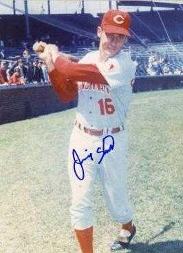 Jimmy Stewart Autographed 8x10 Photo Cincinnati Reds
