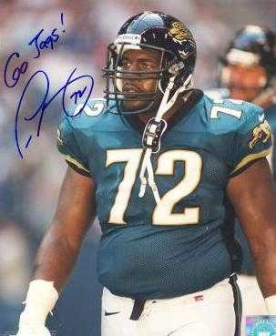 Leon Searcy autographed 8x10 Photo (Jacksonville Jaguars)