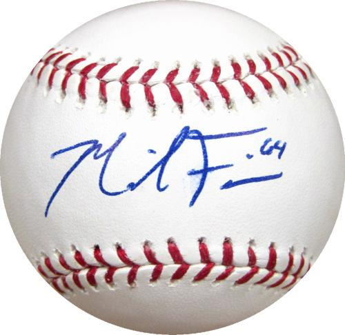 Mike Fiers Autographed Baseball