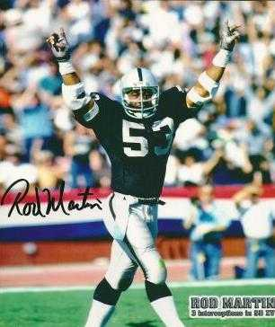 Rod Martin Autographed 8x10 Photo Oakland Raiders