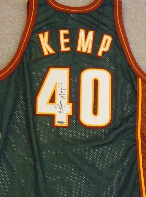 Kemp Autographed Shawn Kemp Autographed Jersey