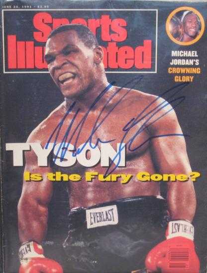 Mike Tyson Autographed Sports Illustrated Magazine Boxing
