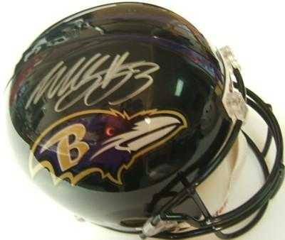 Auto Racing Replica Helmets on Willis Mcgahee Autographed Replica Football Helmet  Baltimore Ravens