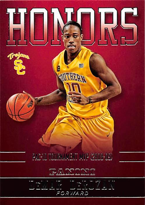 best service 4919b 8f042 DeMar DeRozan basketball card (USC Trojans, Pac 10 ...