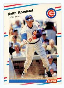 Jody Davis Keith Moreland 1988 Fleer Baseball Card 425 Error