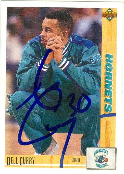 Dell Curry autographed Basketball Card (Charlotte Hornets ...