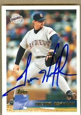 Auto Racing Parts  Diego on Trevor Hoffman Autographed Baseball Card  San Diego Padres  Various