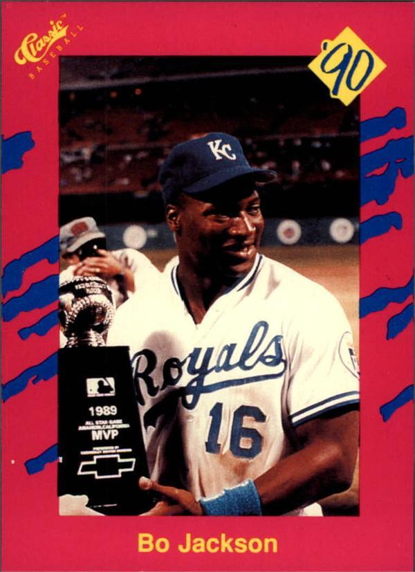 Bo Jackson Baseball Card Kansas City Royals 1990 Classic