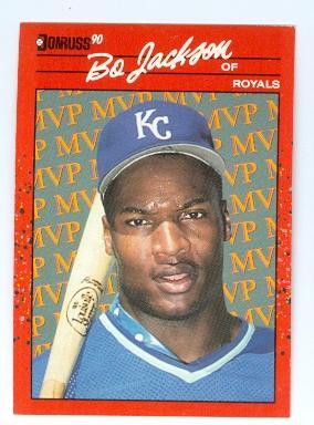 Bo Jackson Baseball Card Kansas City Royals Bo Knows