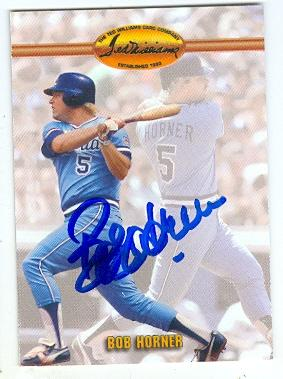 Bob Horner Autographed Baseball Card Atlanta Braves 1993