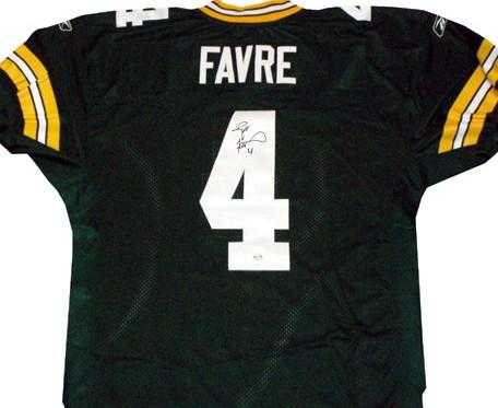 timeless design b297a 50bef Brett Favre autographed Jersey (Green Bay Packers) Favre ...