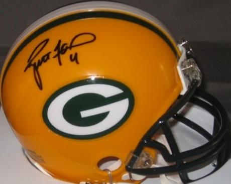 brand new 70393 675ed Brett Favre autographed Mini Helmet (Green Bay Packers)