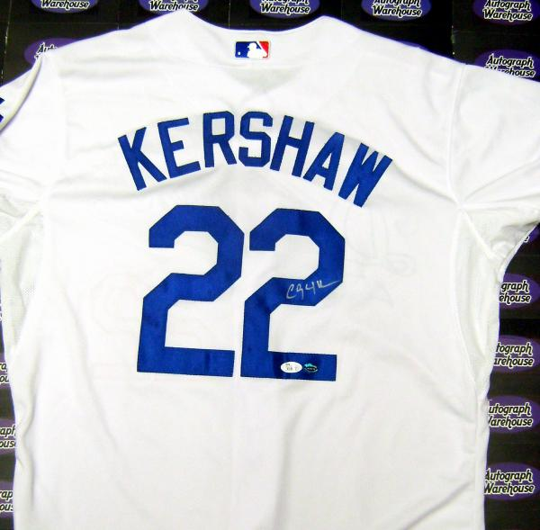 07e9b0b400a Clayton Kershaw autographed Jersey (Los Angeles Dodgers)