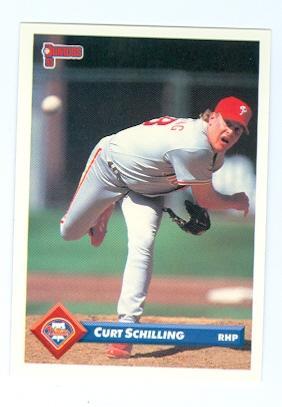 Curt Schilling Baseball Card Philadelphia Phillies 1993 Donruss 118