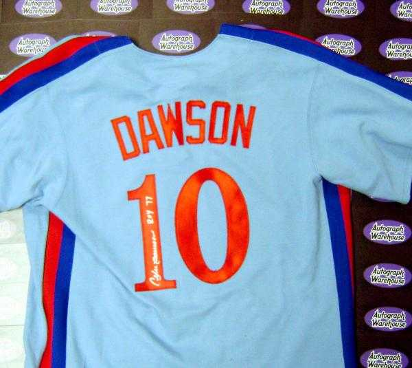 cozy fresh 376ae 1d037 Andre Dawson autographed Jersey (Montreal Expos)