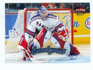 Henrik Lundqvist Hockey Card New York Rangers 2006 2007 Fleer