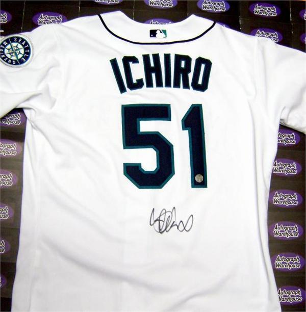 f5dc463080f Ichiro Suzuki autographed Jersey (Seattle Mariners) (Ichiro Hologram)