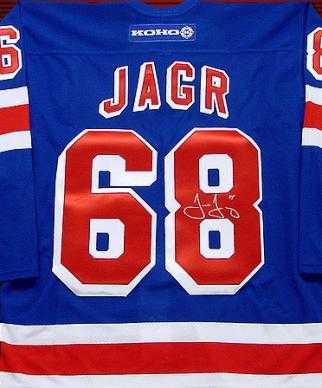 newest 82579 b5c5e Jaromir Jagr autographed Jersey (New York Rangers)