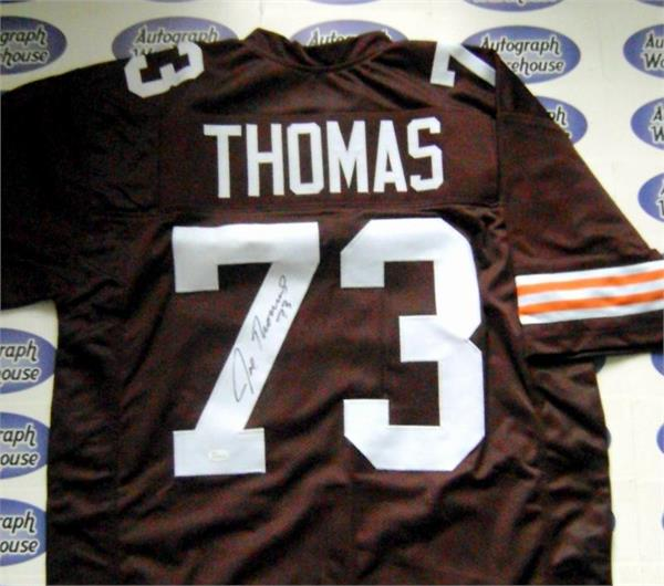 reputable site 99476 7caa3 Joe Thomas autographed Jersey (Cleveland Browns)