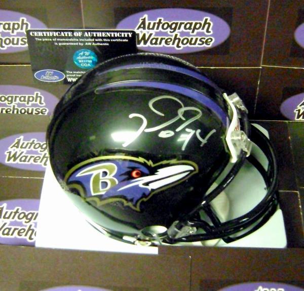 dc98d6fea Michael Oher autographed Mini Helmet (Baltimore Ravens)