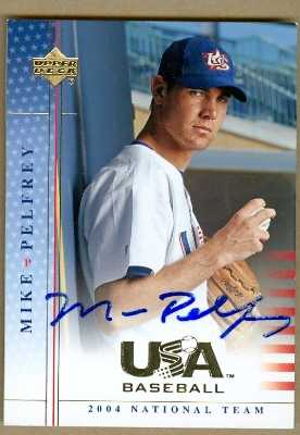 Mike Pelfrey Autographed Baseball Card Team Usa New