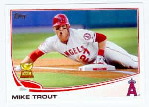 Mike Trout Baseball Card Los Angeles Angels 2013 Topps 27
