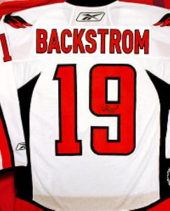 premium selection 3201d 95dcd Nicklas Backstrom autographed Jersey (Washington Capitals ...