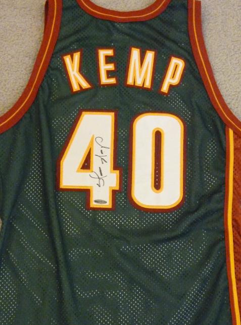 online store 11d6a 80d0c Shawn Kemp autographed Jersey (Seattle Sonics)