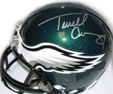 new styles 4c01c 13b34 Terrell Owens autographed Mini Helmet (Philadelphia Eagles)