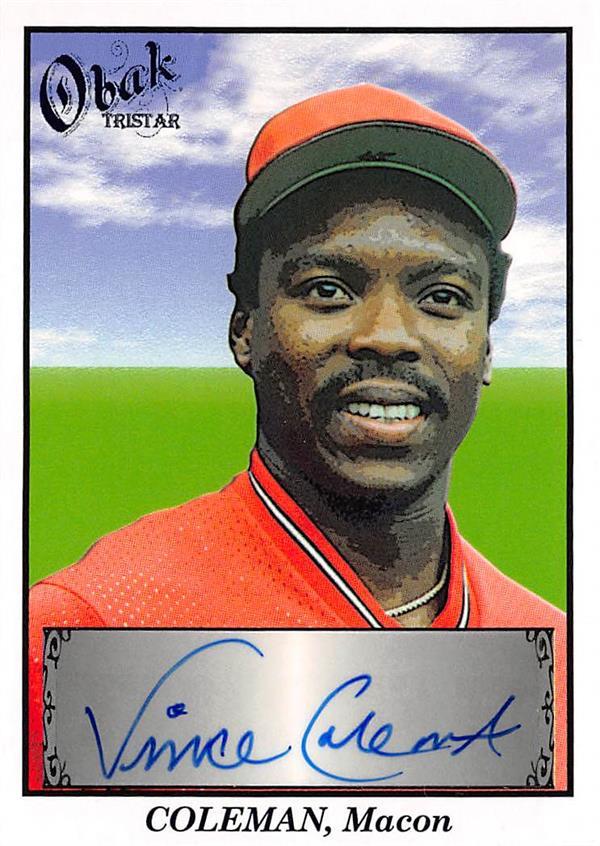 Vince Coleman Autographed Baseball Card St Louis
