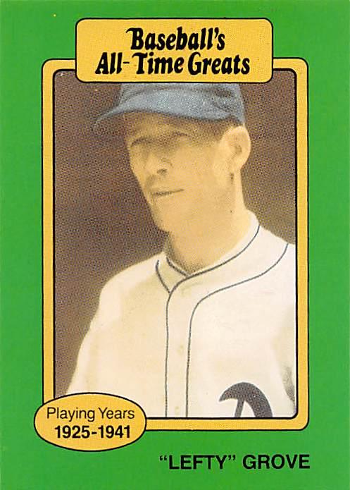 Lefty Grove Baseball Card Philadelphia Atheletics 1987 Hygrade All