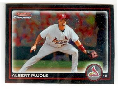 Albert Pujols Baseball Card St Louis Cardinals 2010 Topps