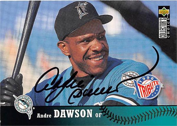 Andre Dawson Autographed Baseball Card Florida Marlins 1997