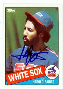 Harold Baines Autographed Baseball Card Chicago White Sox