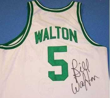 timeless design 20a84 c5f17 Bill Walton autographed Jersey (Boston Celtics) WHITE JERSEY