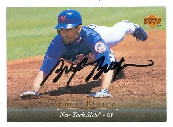 Brett Butler Autographed Baseball Card New York Mets 1995