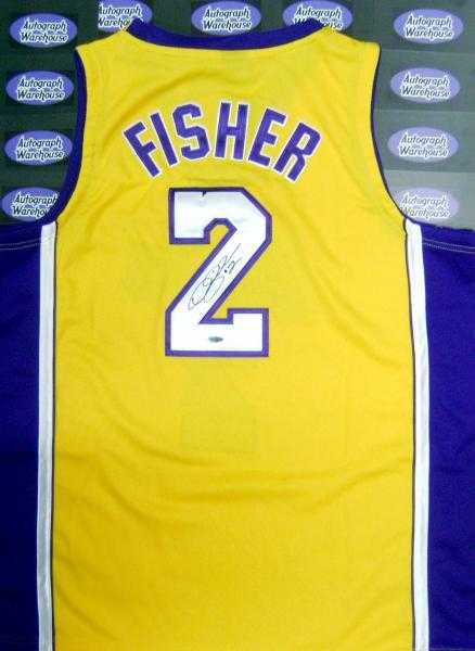 autographed (Los Fisher Derek Angeles Jersey Lakers)
