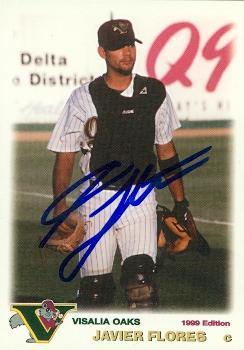 Javier Flores Autographed Baseball Card Minor League