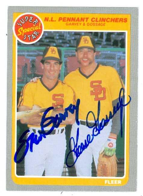 Steve Garvey Goose Gossage Autographed Baseball Card San
