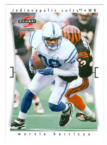 Marvin Harrison Football Card Indianapolis Colts 1997 Score