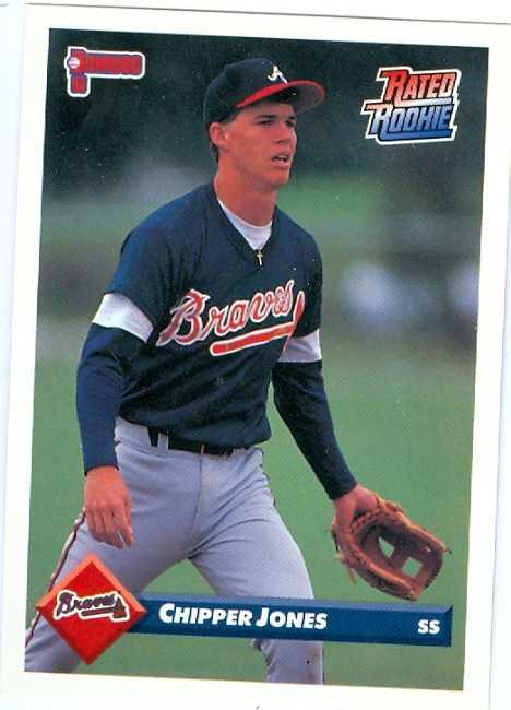 Chipper Jones Baseball Card 1993 Donruss 721 Rated Rookie