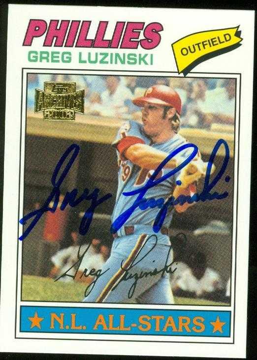 Greg Luzinski Autographed Baseball Card Philadelphia