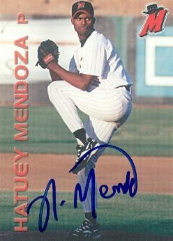 Hatuey Mendoza Autographed Baseball Card Minor League